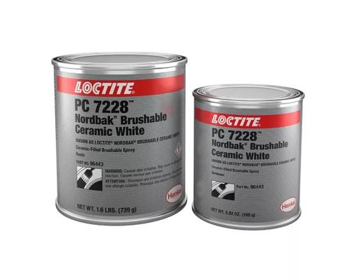Henkel 96443 LOCTITE® PC 7228™ Nordbak® White Brushable Ceramic Epoxy Surface Coating - 0.91 Kg (2 lb) Kit