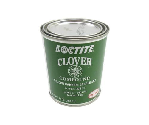 Henkel 39413 LOCTITE® CLOVER® Gray Grade B / 240 Grit Silicon Carbide Valve Grinding Compound - 453.6 Gram (16 oz) Can