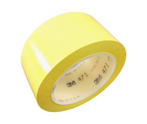 "3M™ 021200-04310 Yellow 471 Vinyl 5.2 Mil Tape - 2"" x 36 Yard Roll"