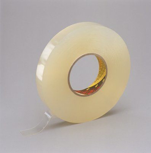 """3M™ 021200-38546 Scotch® 4658F Clear 31.25 Mil Double Coated Removable Foam Tape - 1/2"""" x 27 Yard Roll"""
