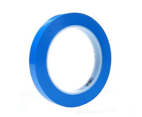 """3M™ 051111-92385 Blue 471 Vinyl 5.2 Mil Tape - 1/8"""" x 36 Yard Roll"""