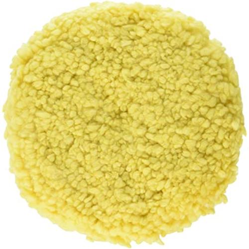 """3M™ 051131-05705 SuperBuff Yellow 9"""" Wool Polishing Pad - 6 Pads/Case"""