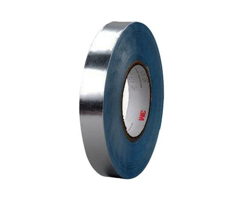 "3M™ 051138-95885 Silver 436 Vibration 17.5 Mil Damping Aluminum Foil Tape - 20"" x 36 Yard Roll"