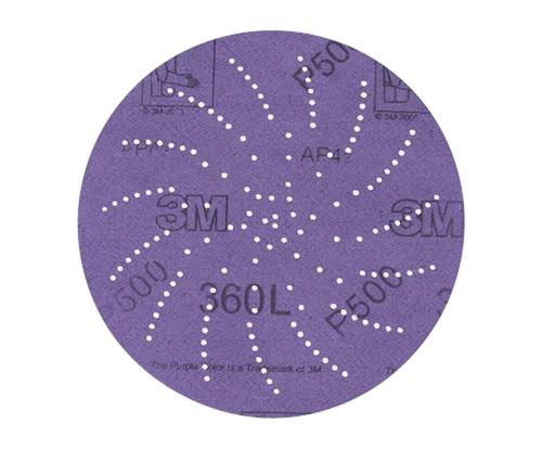 """3M™ 051141-20821 360L Purple 3"""" P220 Grit Sanding Disc - 100 Discs/Pack"""