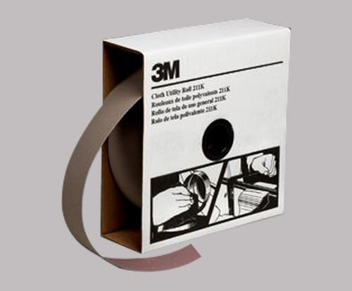 """3M™ 051144-05041 211K Gray 1"""" X 50 Yd 400 Grit Utility Cloth Roll - 5 Rolls/Case"""
