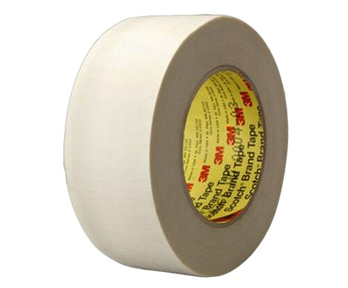 "3M™ 021200-05513 Scotch® 361 White 7.5 Mil Glass Cloth Tape - 1-1/2"" x 60 Yard Roll"