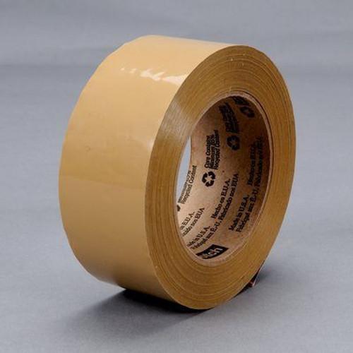 3M™ 021200-15872 Scotch® 371 Tan 1.8 Mil Box Sealing Tape - 48 mm x 100 m Roll