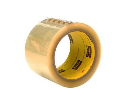 3M™ 021200-69605 Scotch® 373 Clear 2.5 Mil Box Sealing Tape - 72 mm x 50 m Roll