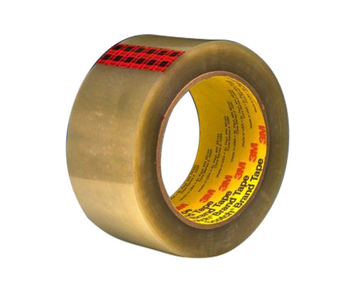3M™ 021200-72318 Scotch® 351 Clear 3.43 Mil Government Certification Box Sealing Tape - 48 mm x 3 x 50 m Roll
