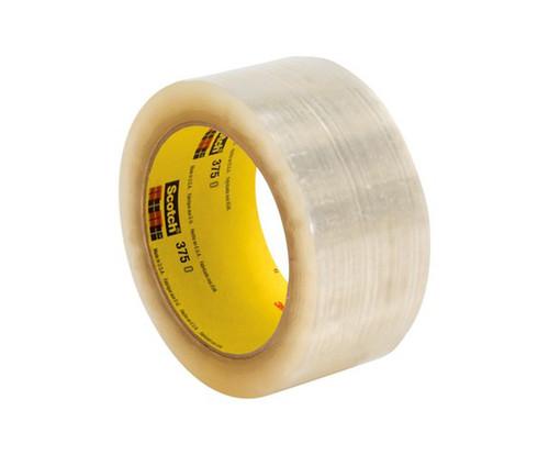 3M™ 021200-72402 Scotch® 375 Tan 3.1 Mil Box Sealing Tape - 72 mm x 50 m Roll