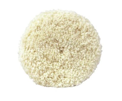 """3M™ 051131-05711 Hookit™ White 8"""" Wool Compounding Pad"""