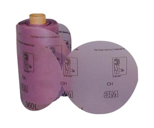 """3M™ 051135-06222 Stikit™ 360L Purple 5"""" P800 Grit Film Disc - 125 Discs/Roll"""