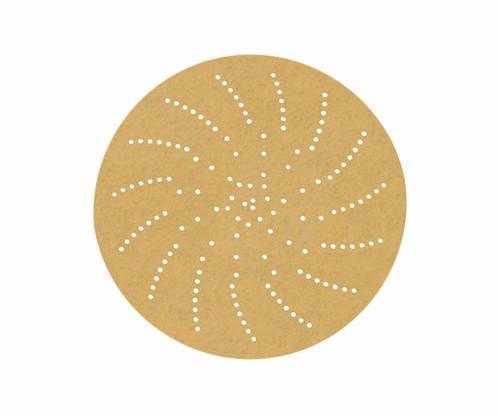 "3M™ 051141-55517 236U Gold 3"" P80 Grit C Weight Sandpaper Disc - 50 Discs/Pack"