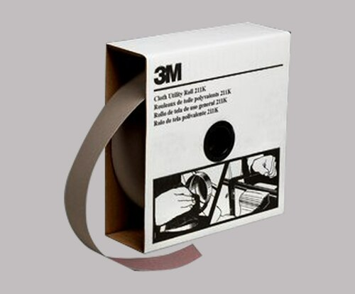 """3M™ 051144-05040 211K Gray 1"""" X 50 Yd 500 Grit Utility Cloth Sheet - 5 Rolls/Case"""