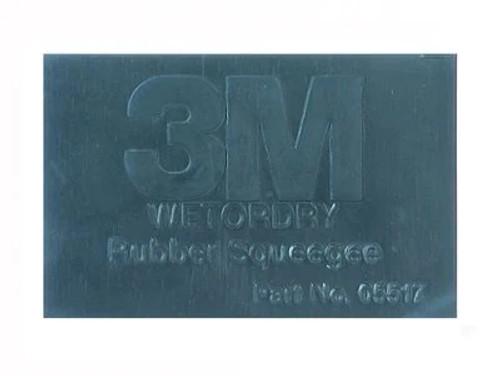 "3M™ 051144-05517 Black 2-3/4"" X 4-1/4"" Rubber Squeegee - 50 Squeegee/Case"