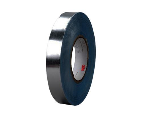 "3M™ 051138-95629 Silver 436 Vibration 17.5 Mil Damping Aluminum Foil Tape - 2"" x 36 Yard Roll"