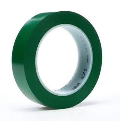 """3M™ 021200-03143 Green 471 Vinyl 5.2 Mil Tape - 1/2"""" x 36 Yard Roll"""