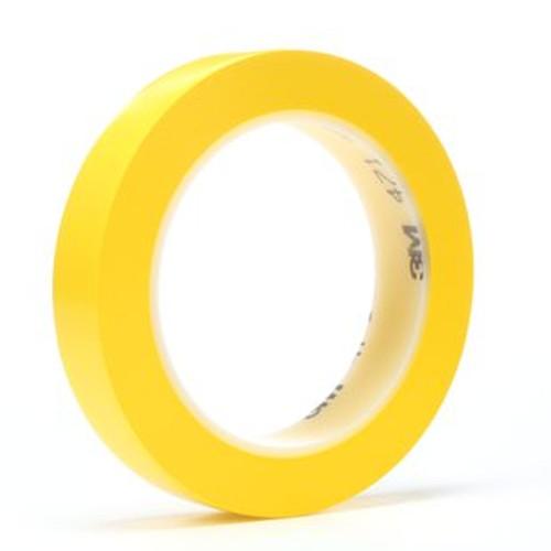"3M™ 021200-03127 Yellow 471 Vinyl 5.2 Mil Tape - 3/4"" x 36 Yard Roll"
