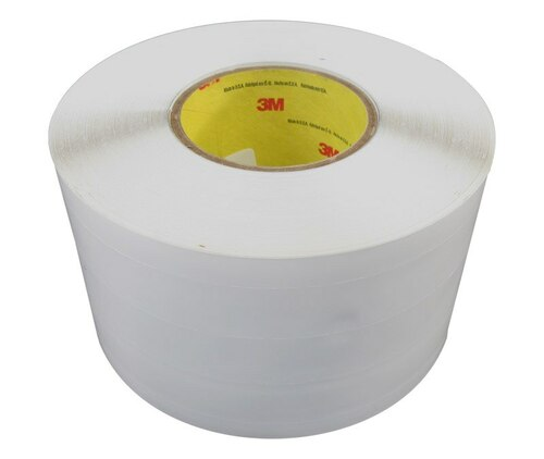 "3M™ 021200-24337 Transparent 4"" Skip Slit Liner Polyurethane Protective Tape - 4"" x 36 Yard Roll"