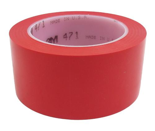 """3M™ 021200-04305 Red 471 Vinyl 5.2 Mil Tape - 2"""" x 36 Yard Roll"""