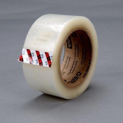 3M™ 021200-14105 Scotch® 371 Tan 1.8 Mil Box Sealing Tape - 48 mm x 50 m Roll