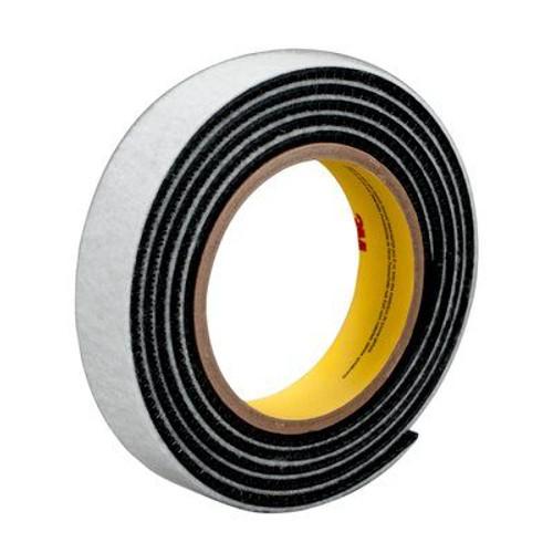 """3M™ 021200-64704 Dual Lock™ SJ3444 Black Type 170 Reclosable Fastener - 1"""" x .028 x 50 Yard Roll"""