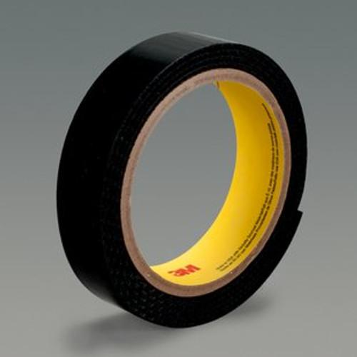 "3M™ 021200-86376 Scotchmate™ SJ3419FR Black Flame Resistant Hook Fastener - 1-1/2"" x 0.12"" x 50 Yard Roll"