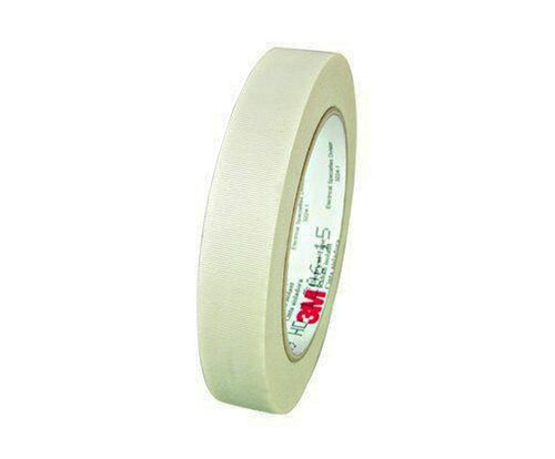 "3M™ 054007-27493 Scotch® 69 White 7 Mil Insulating Glass Cloth Electrical Tape - 3/4"" x 36 Yard Roll"