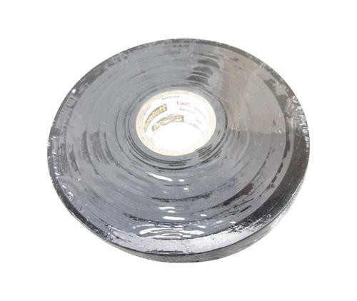 "3M™ 054007-41717 Scotch® 130C Black 30 Mil Linerless Rubber Splicing Tape - 3/4"" x 30' Roll"