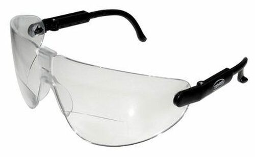 3M™ 078371-62250 Lexa™ 13353-00000-20 Black Temple Medium Clear +1.5 Diopter Anti-Fog Lense Reader Safety Glasses