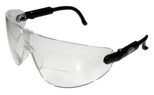 3M™ 078371-62251 Lexa™ 13354-00000-20 Black Temple Medium Clear +2.0 Diopter Anti-Fog Lense Reader Safety Glasses