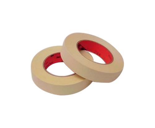 "3M™ 021200-03849 Scotch® 214 Tan 5.8 Mil High Temperature Masking Tape - 1/2"" x 60 Yard Roll"
