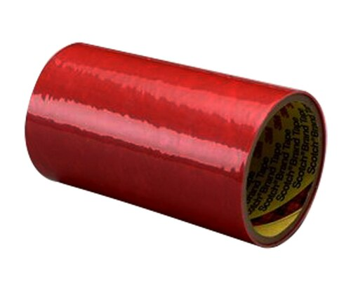 """3M™ 021200-05568 Pink Polyester Protective 1.6 Mil Tape - 12"""" x 144 Yard Roll"""