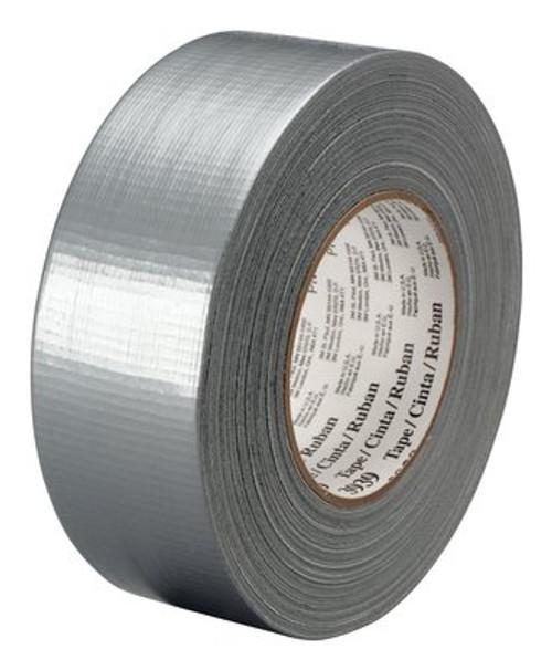 """3M™ 051131-06975 Silver 3939 Heavy-Duty 9 Mil Duct Tape - 1.88"""" x 60 Yard Roll"""