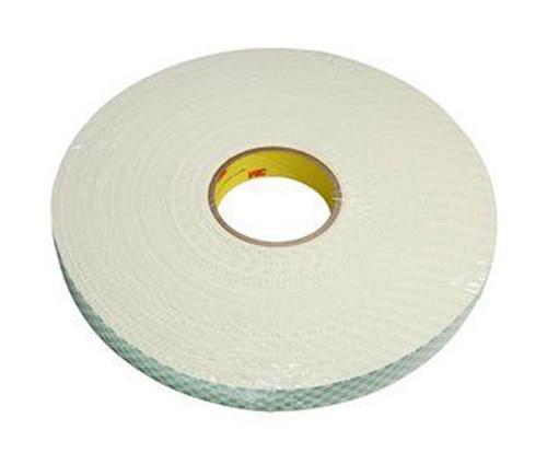 "3M™ 021200-03402 Natural 4116 Single-Coated 62 Mil Urethane Foam Tape - 1"" x 36 Yard Roll"