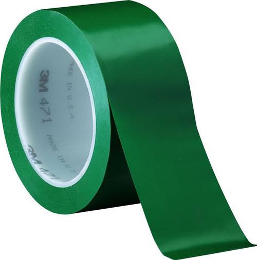 """3M™ 021200-04313 Green 471 Vinyl 5.2 Mil Tape - 2"""" x 36 Yard Roll"""