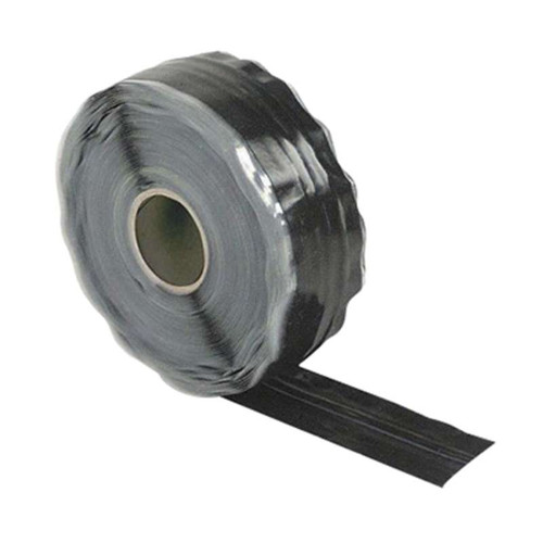"""MSP® SCS3010036BK-T Black 30 MIL Triangular Self-Fusing Silicone Tape - 1"""" Wide x .030"""" Thick x 36' Long Roll"""