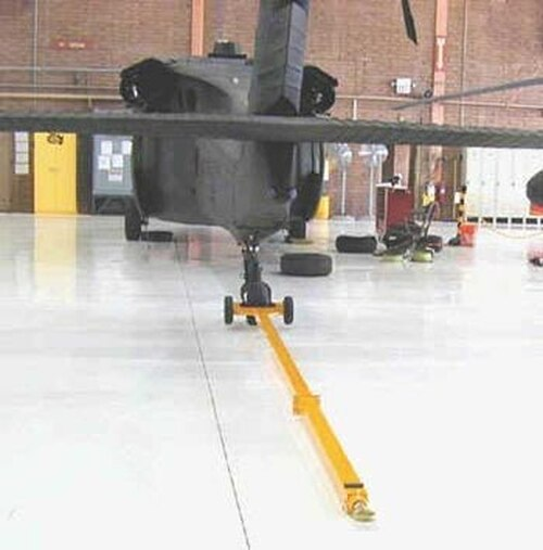 Brackett Aircraft Company HT-60A Yellow Aluminum Sikorsky Blackhawk/HH-60 & Boeing AH-64 Series Single Tailwheel Helicopter Towbar