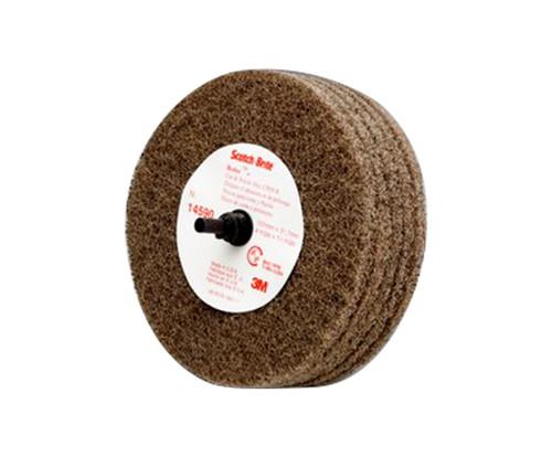 """3M™ 048011-14590 Scotch-Brite™ Roloc™ Tan D5, 4"""" x 1-1/4"""" A MED Cut & Polish Disc"""