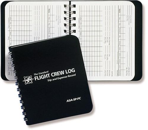 Aviation Supplies & Academics ASA-SP-FC Black The Standard™ Softcover Flight Crew Logbook