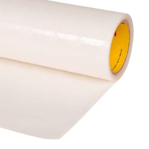 "3M™ 021200-64682 Transparent 8681 HS Polyurethane 14 Mil Protective Tape, Skip Slit - 6"" x 36 Yard Roll"