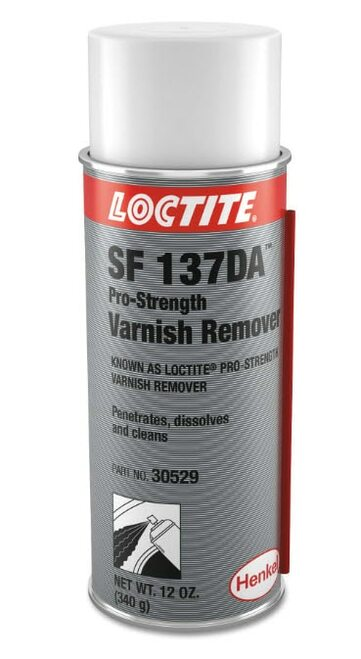 Henkel 30529 LOCTITE® SF 137DA™ Clear Pro-Strength Varnish Remover - 340 Gram (12 oz) Aerosol Can
