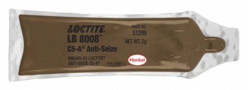 Henkel 51299 LOCTITE® LB 8008™ C5-A® Copper Based Anti-Seize Lubricant - 2 Gram (0.07 oz) Pouch