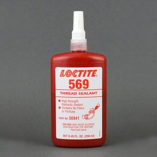 Henkel 56941 LOCTITE® 569™ Brown Hydraulic Thread Sealant - 250 mL (8.45 oz) Bottle