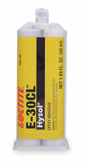 Henkel 29329 LOCTITE® EA E-30CL™ HYSOL® Clear Low Shrinkage Industrial-Grade Solid Epoxy Adhesive - 50 mL (1.69 oz) Dual Cartridge
