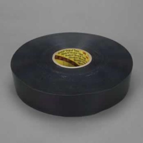 "3M™ 021200-24330 Black 8544 Polyurethane 9 Mil Protective Tape - 1"" x 36 Yard Roll"