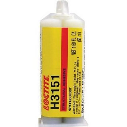 Henkel 83015 LOCTITE® AA H3151™ SPEEDBONDER® Yellow Metal Bonder Structural Acrylic Adhesive - 50 mL (1.69 oz) Standard Cartridge