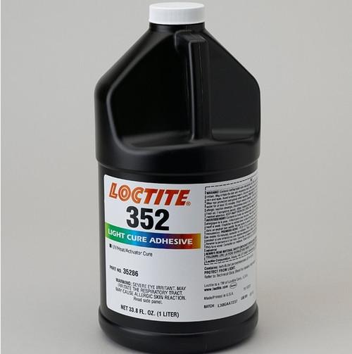 Henkel 35586 LOCTITE® AA 352™ Transparent Light-Cure Acrylic Adhesive - Liter (33.8 oz) Bottle