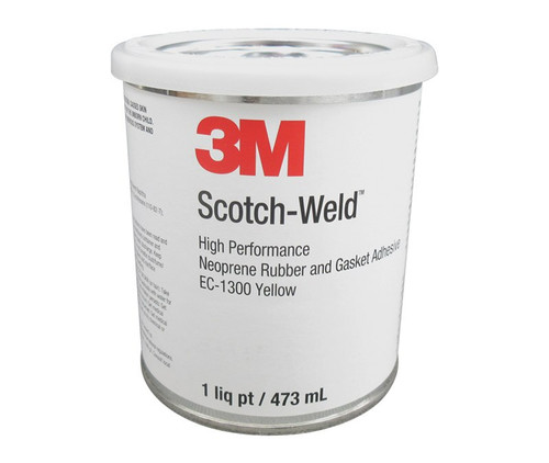 3M™ 048011-98659 Scotch-Weld™ EC-1300 Yellow Neoprene High Performance Rubber & Gasket Adhesive - Pint Can
