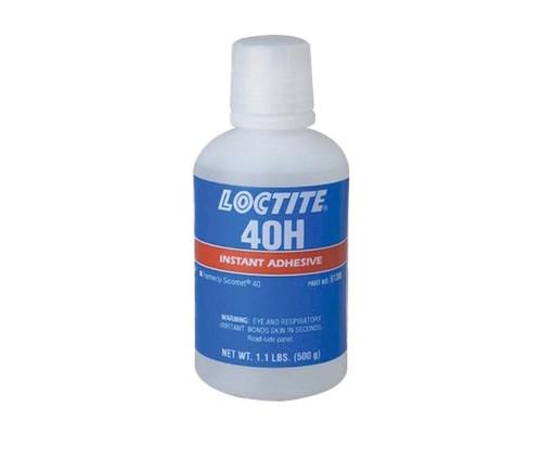 Henkel 61306 LOCTITE® 40H™ Transparent Cyanoacrylate Adhesive - 500 Gram (1.1 lb) Bottle